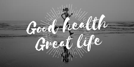 良い健康良い生活健康的な生活の活力コンセプト