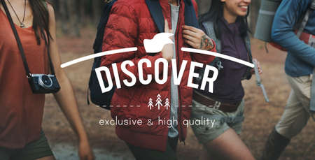 discover: Discover Adventure Traveling Exploration Journey Concept Stock Photo