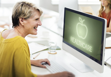Healthcare concept on computer