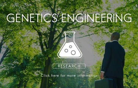 Scientific Biochemistry Genetics Engineering Concept Stock Photo