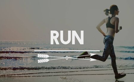sprint: Run Hurry Activity Rush Speed Sprint Exercise Fit Concept