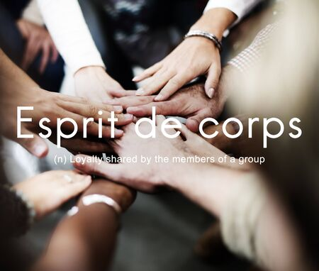 Esprit De Corps Group Loyalty People Graphic Concept Stock Photo