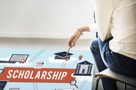 scholarship: Scholarship Aid College Education Loan Money Concept