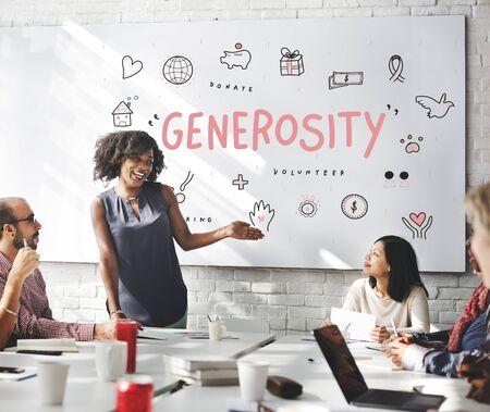 generosity: Generosity Donations Charity Foundation Support Concept