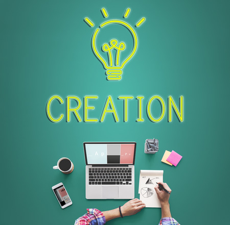 Be Creative New Imagination Innovation Graphic Concept Stock Photo