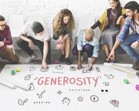 Dons Générosité Fondation Charity soutien Concept Banque d'images - 61956461