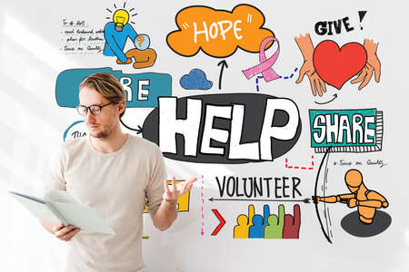 Help Aid Charity Support Welfare Concept Stock Photo