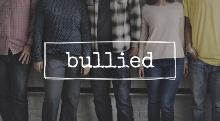 bullied: Bullied Tyrannise Oppression Intimidation Force Domination Concept