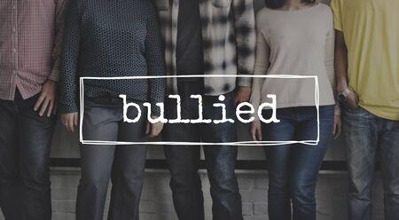domination: Bullied Tyrannise Oppression Intimidation Force Domination Concept