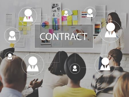 promise: Contract Agreement Promise Contractor Contraction Concept Stock Photo
