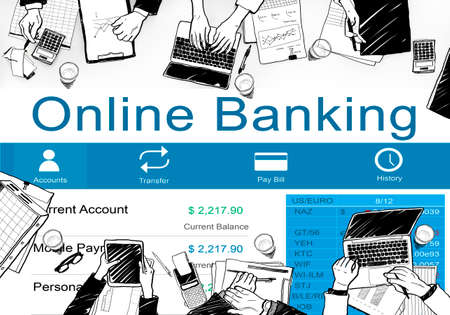 online banking: Online Banking Finance Banking E-banking Concept
