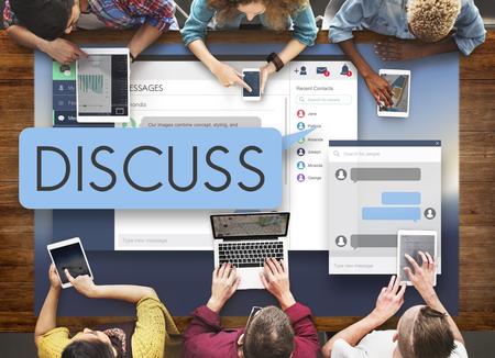 argumento: Discusión discutir Argumento concepto de la comunicación