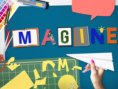 visualise: Imagine Planning Creative Imagination Concept Stock Photo
