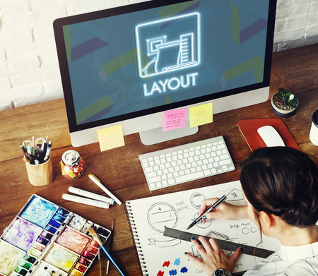 editing: Layout Editing Arrangement Design Printing Plan Concept