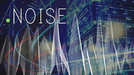 ruido: Oye el ruido ruidosamente ruidoso Dolor Contaminación Ver concepto de estrés Foto de archivo