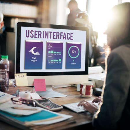 user interface: User Interface Operating System Electronic Technology Concept