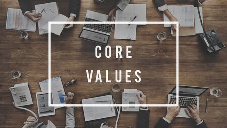morals: Core Values Principles Morals Concept