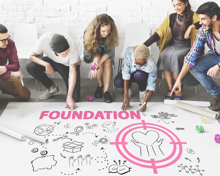 Donations Foundation Giving Help Welfare Charity Concept Фото со стока