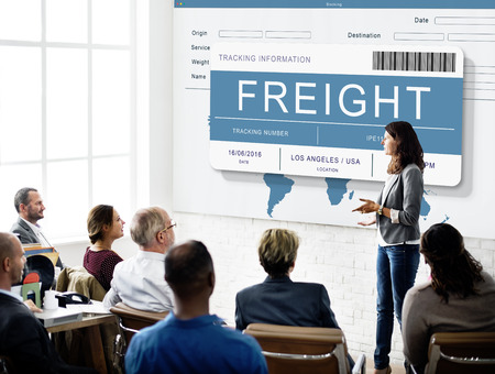 Logistics Delivery Cargo Freight Shipment Concept Stock Photo