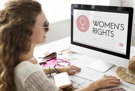 feminism: Women Rights Female Woman Girl Lady Feminism Concept