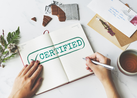approve: Certified Result Status Approve Decision Graphic Concept Stock Photo