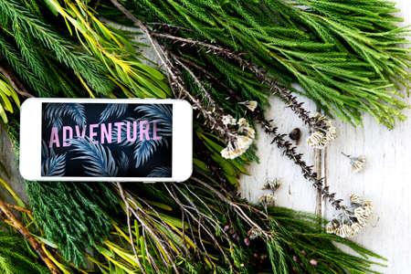 wanderlust: Adventure Discovery Wanderlust Journey Exoplore Concept Stock Photo