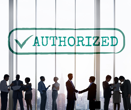 authorisation: Authorized Approve Permission Sanction Graphic Concept
