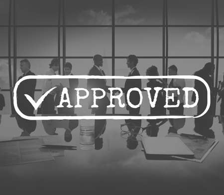 checked: Approved Checked Accessible Authorized Security Concept Stock Photo