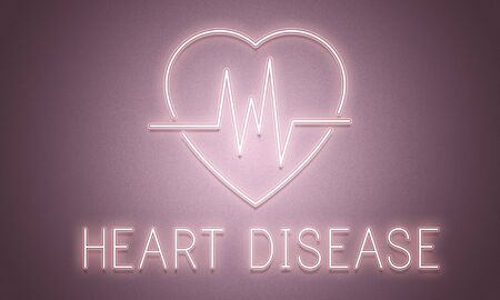 be ill: Cardiac Cardiovascular Disease Heart Graphic Concept