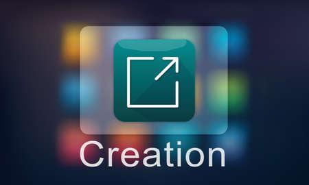 invention: Creation Design Digital Gadget Invention Graphic Concept Stock Photo