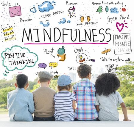 Otimismo Mindfulness Relax Conceito Harmonia Imagens - 62068068