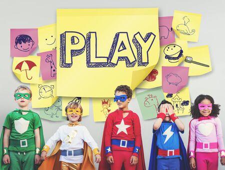 enjoyment: Play Joyful Enjoyment Playful Imagination Dreams Concept