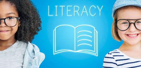 child of school age: Education Improvement Intelligence Skills Graphic Concept
