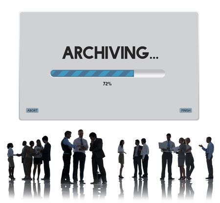 data archiving: Connection Data Streaming Download Archiving Concept