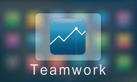 business communication: Application Business Communication Graphic Concept