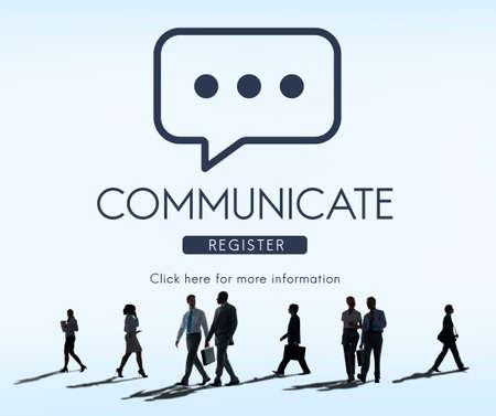 comunicarse: Comunicar Concepto Mensaje conversaci�n en l�nea
