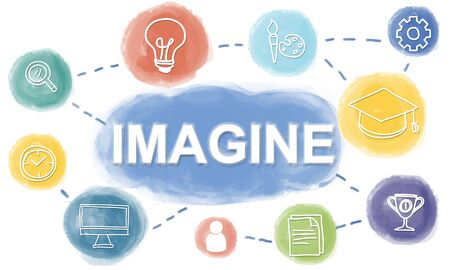 Brainstorm Knowledge Creative Imagine Think Concept Stock Photo