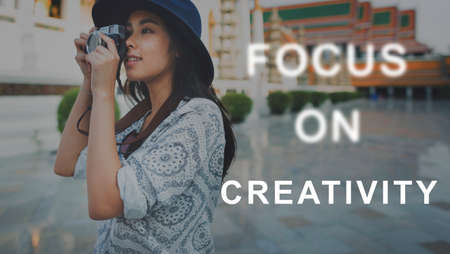 concentrate on: Focus On Aim Concentrate Target Determine Concept Stock Photo