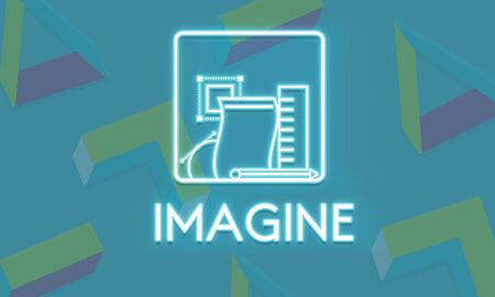 dream vision: Imagine Ideas Thinking Vision Dream Creative Concept Stock Photo