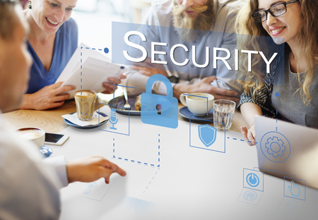 Security concept with group of people
