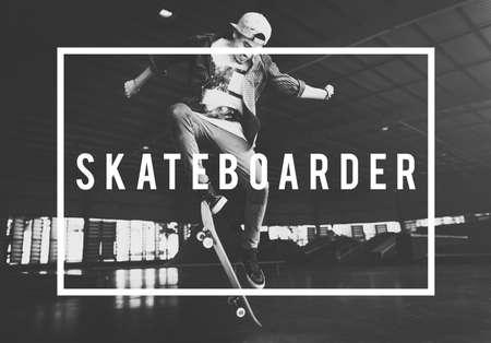 enjoyment: Skateboard Skater Extreme Enjoyment Ollie Concept