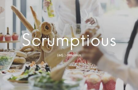 stirred: Scrumptious Delicious Appetizing Food Graphic Concept