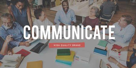 mingle: Communicate Communication Connection Socialize People Concept Stock Photo