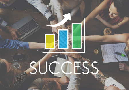 Success Increasing Bar Chart Concept