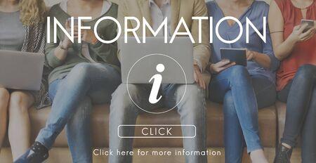 infotech: Information Technology Computer System Concept Stock Photo