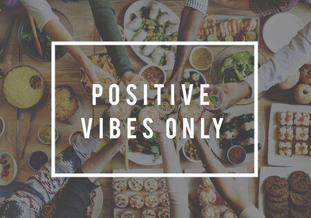 optimismo: Positivo Inspire mentalidad optimismo mentalidad concepto de elecci�n