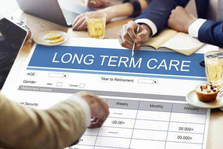 seniority: Retirement Plan Insurance Benefits Healthcare Concept