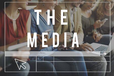 socialise: Media Social Online WEbsite Blog Concept Stock Photo