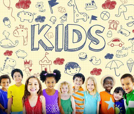 Kids Kinderen Joy Gelukkig Kind Concept