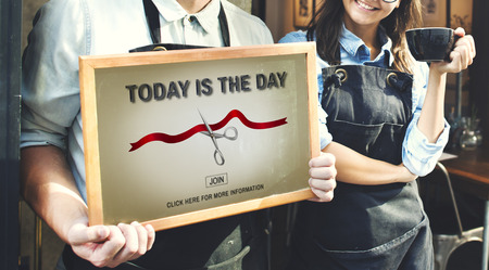 joining services: New Business Ribbon Cutting Celebration Event Concept